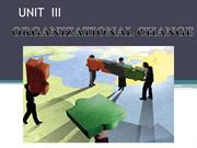 UNIT  III  Organisational Behaviour