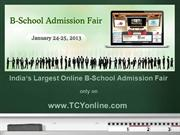 Presentation-TCYonline B-School Admission Fair