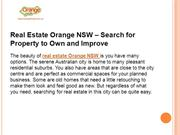 Real Estate Orange NSW – Search for Property to Own and Improve