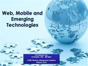 Web and Mobile  and Emerging Technologies