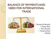 Balance of payment