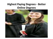 Highest Paying Degrees - Better Online Degrees