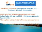 MarketAarkstore.com Indian Radio Cab Market 2012 - Challenges & Growth