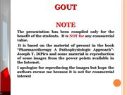 Gout for Pharm D Students