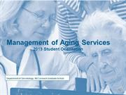 Management of Aging Services Orientation Spring 2013 Updated
