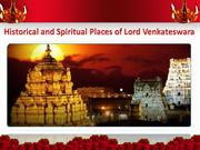 Historical and Spiritual Places of Lord Venkateswara