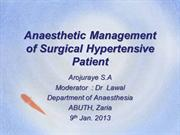 Anaesthetic Management of Hypertensive Surgical Patient
