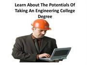 Learn About The Potentials Of Taking An Engineering