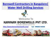 Borewell Contractors in Bangalore, Water Well Drilling Services