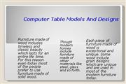 Computer Table Models And Designs