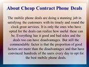 Cheap Contract Phone Deals