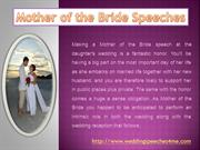 Mother of the Bride Speeches - Tips