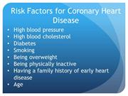 Risk Factors For Caridiovascular Dz
