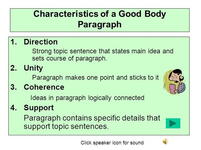 Lec 8 Characteristics of a Good Paragraph |authorSTREAM