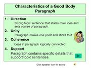 Lec 8 Characteristics of a Good Paragraph