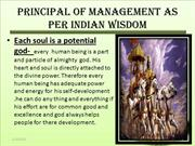 Principal of management as per indian wisdom