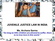 Juvenile Justice Law in India - Archana Sarma