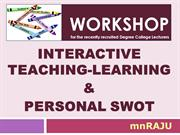 Interactive Teaching Techniques & SWOT Analysis for CollegeTeachers