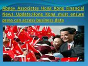 Abney Associates Hong Kong Financial News Update