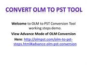 Convert OLM Files to PST for Outlook 2013, 2010, 2007
