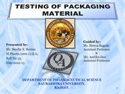 testing of packaging material