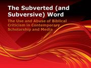 AIOT PP1_The Subverted (and Subversive) Word