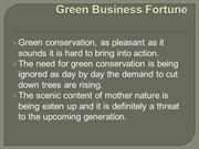 Green conservation company non-renewable resources of earth.