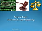 Tools of Legal Methods & Legal Reasoning