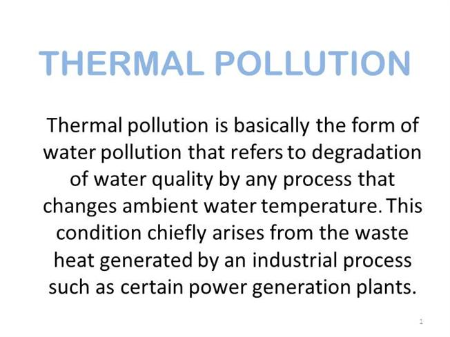 thermal pollution ppt presentation free download
