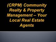 (CRPM) Community Realty & Property Management