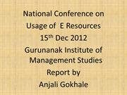 gurunanak mgt college conference report