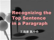 Paragraph topic sentence