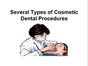 Several Types of Cosmetic Dental Procedures