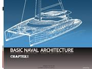 Basic Naval Architecture chapter 1