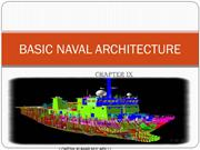 Basic naval architecture chapter 9