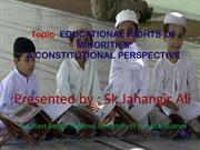 Cultural and Educational Rights of Minorities