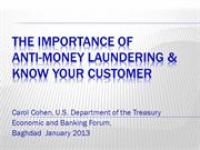 The Importance of Money Laundering