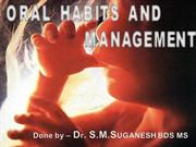oral habits and management