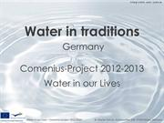 Water in traditions - Germany