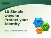 Ways to protect identity