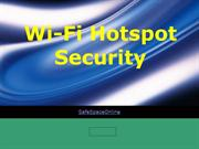 Wi-Fi Hotspot Security