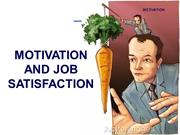 Motivation & Job Satisfaction