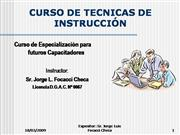 CURSO DE TECNICAS DE INSTRUCCION