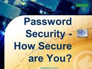 Password Security - How Secure are You