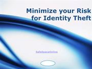 Minimize your Risk for Identity Theft
