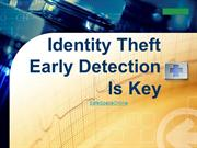 Identity theft early detection
