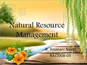 Natural Resource Management