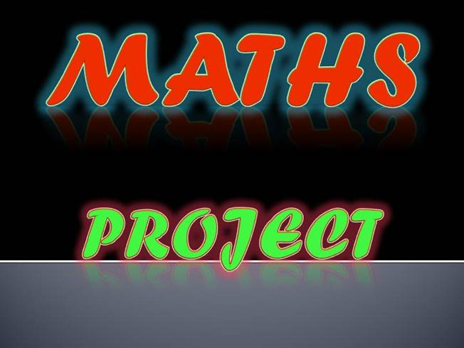 maths project front page
