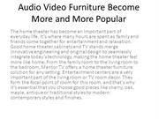 Audio Video Furniture Become More and More Popular
