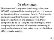 ISO 9000 Disadvantages 1